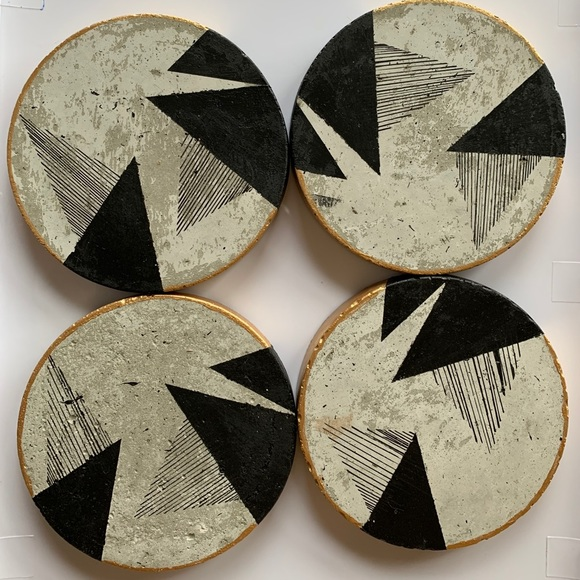 Handcrafted & Painted Ceramic Coasters or Ornament
